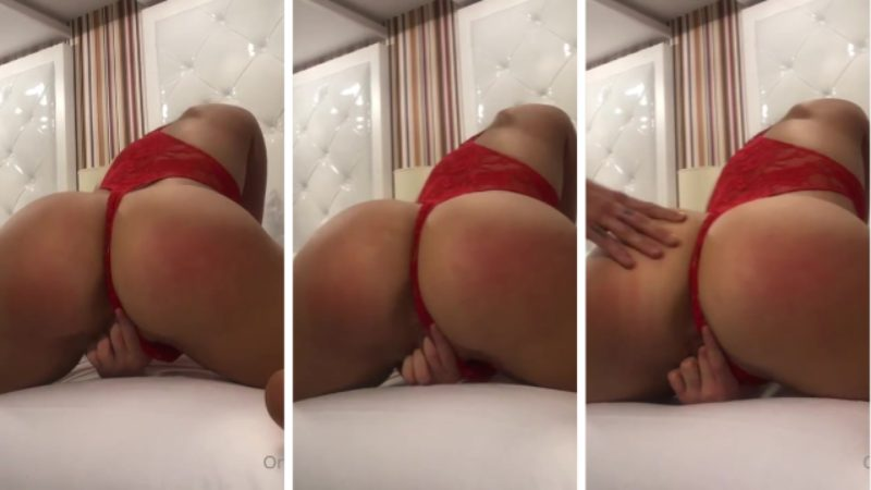 Madison Ginley Leaked Red Thong Porn Video Leaked photo 29