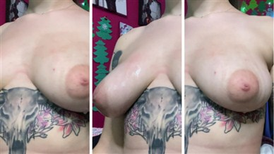 Quinn Gray Onlyfans Oiled Up Boobs Video photo 23